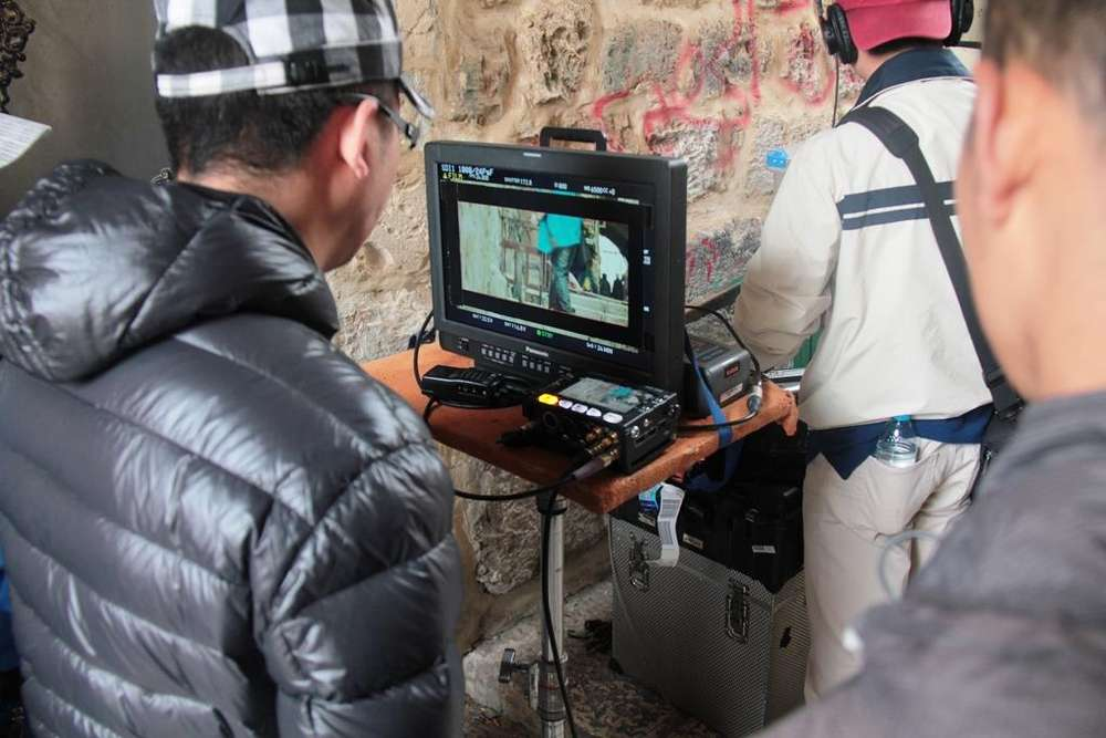 Filming in Jerusalem