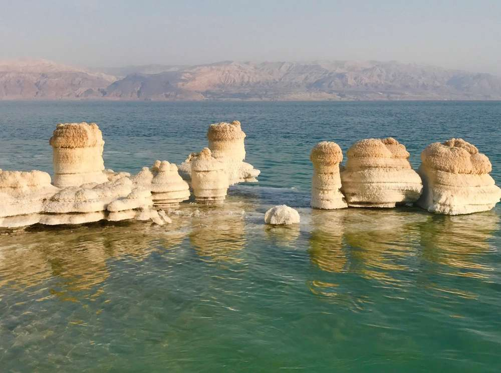 Filming in the Dead Sea