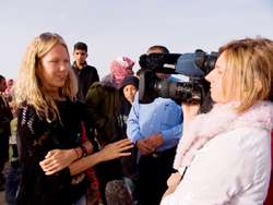 Filming with Lonely Planet TV at a local Bedouin market