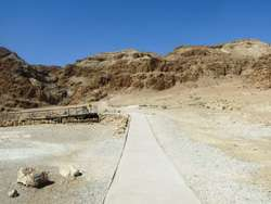 The way to the caves Qumran