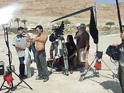 Director Scud Cheng and the crew