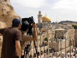 Filming in the Old City of Jerusalem