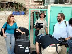 Filming at Mahane Yehuda Market