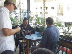 Filming at a Cafe in Amman