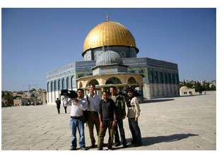 crew at the Dome of the Rock